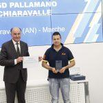 """La ASD Pallamano Chiaravalle premiata a Roma al Premio """"Estra per lo sport"""""""